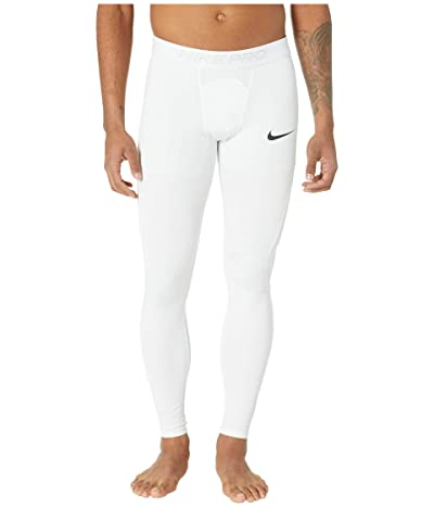 Nike Big Tall Pro Tights (White/Black) Men
