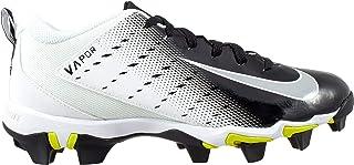 Nike Kids' Vapor Shark 3 Football Cleats (2.5, White/Black)