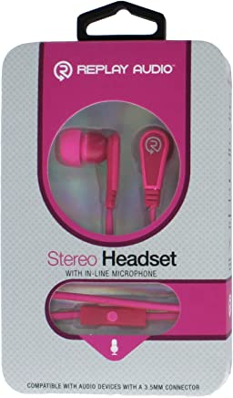 95528e6832b Stereo Headset- With in- line Microphone (pink)