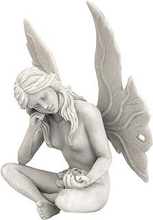 Design Toscano PD1539 The Secret Garden Gazing Fairy Statue 10 Inch