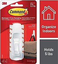 Command Large Utility Hook, White, 1-Hook, 6-Pack