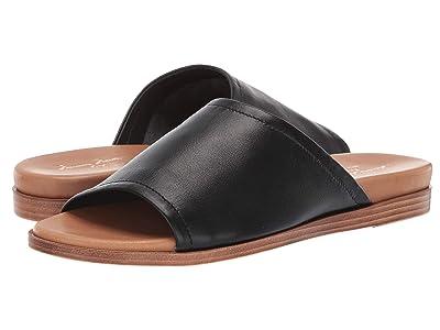 Massimo Matteo Nappa Leather Slide (Black) Women