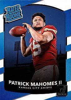 2017 Panini Donruss Football #327 Patrick Mahomes II Rookie Card Chiefs - Rated Rookie