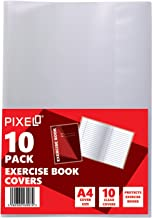 Pixel® A4 Clear Exercise Book Covers Slip on Jackets (Pack of 10)