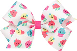Wee Ones Girl's & Baby Girl's Printed Design Bow, Multiple Patterns & Sizes