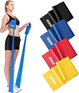 Resistance Band   1.2 Metre or 2 Metre   Four Resistance Levels   Free Workout Guide   Exercise Band Ideal for Physiothera...