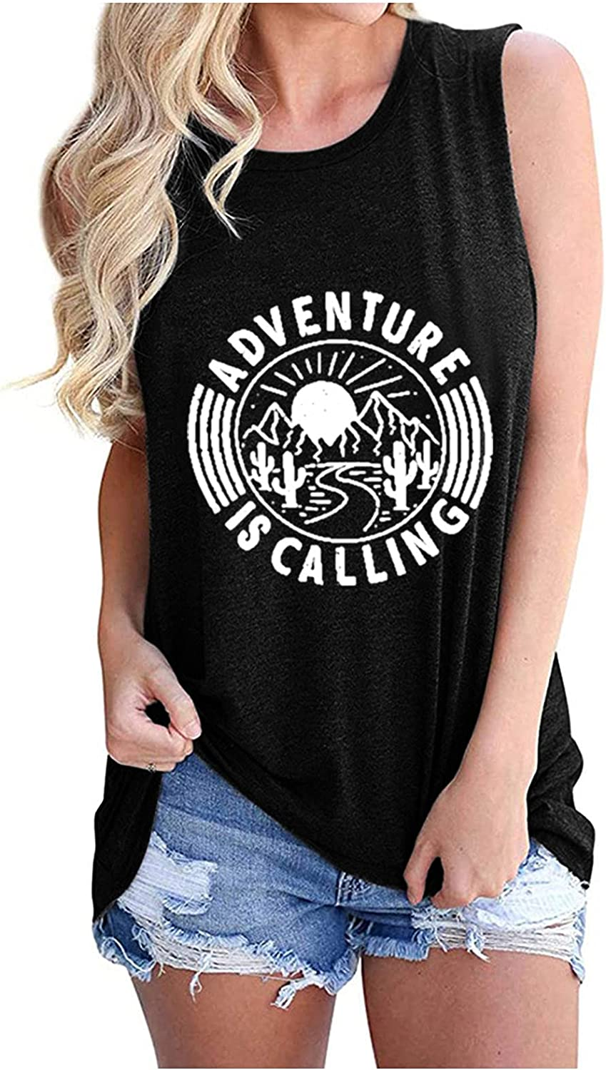 New product type Rockia Adventure is Calling Fixed price for sale Tank Tops Graphic - Womens Tees for
