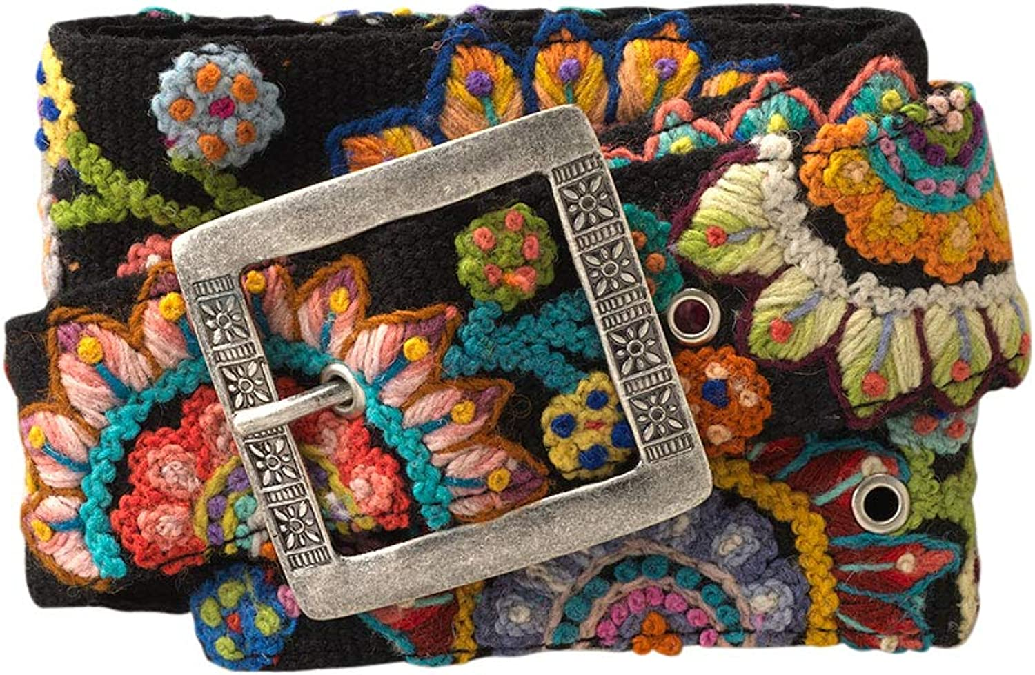 Tey Art Sun Burst Hand Trade Belt Embroidered Limited time trial price Fair Wool Very popular!