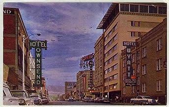 Downtown - Casper Wyoming (Vintage Chrome Street Scene Postcard) #1270