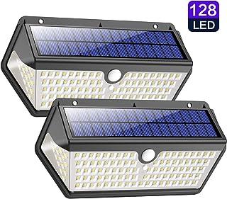 Luz Solar Exterior,Trswyop 2 Unidades-128LED-2200mah Luces