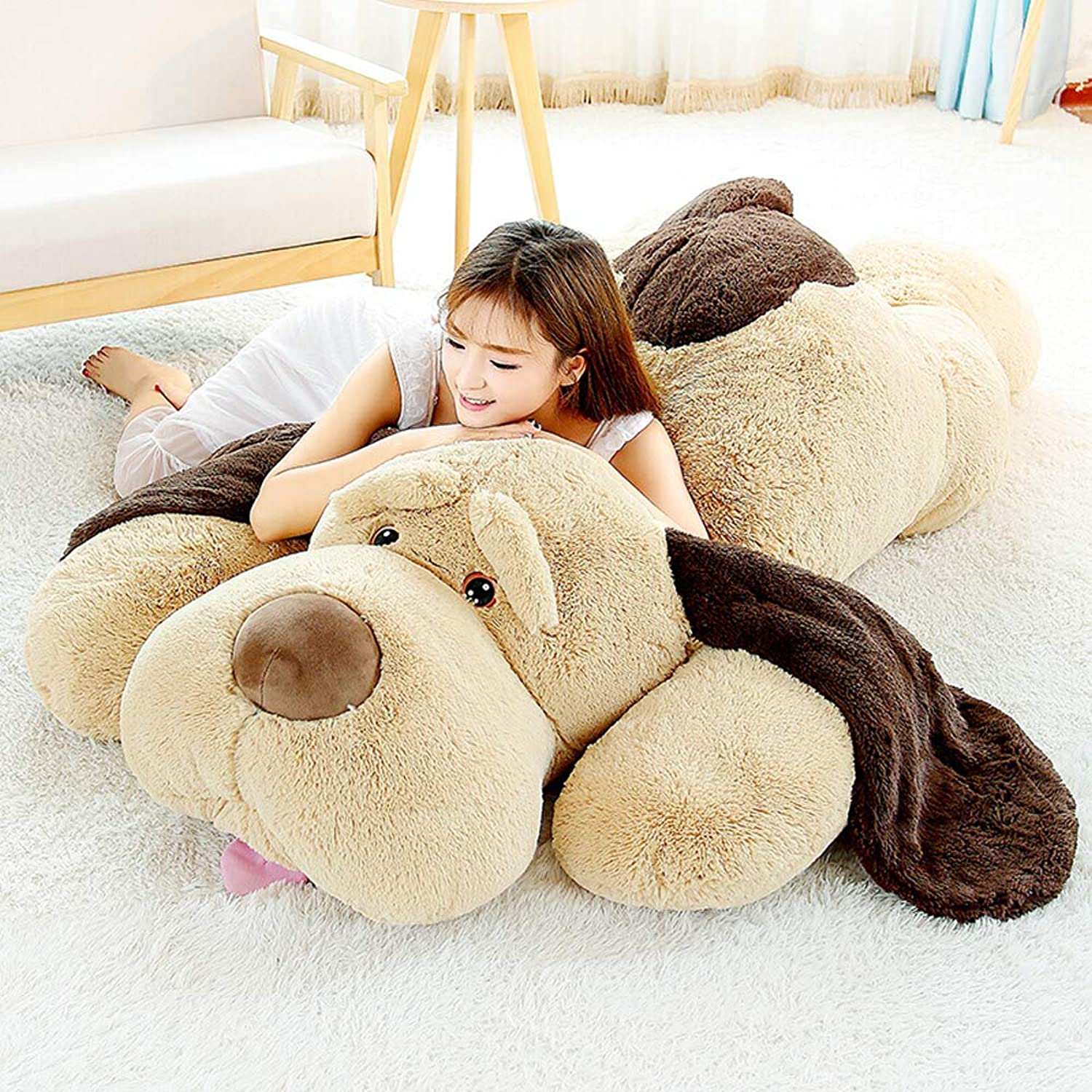 MaoGoLan Giant Stuffed Puppy Dog Big Plush Extra Large Stuffed Animals Soft Plush Dog Pillow Big Plush Toy for Girls Kids (51 inch)