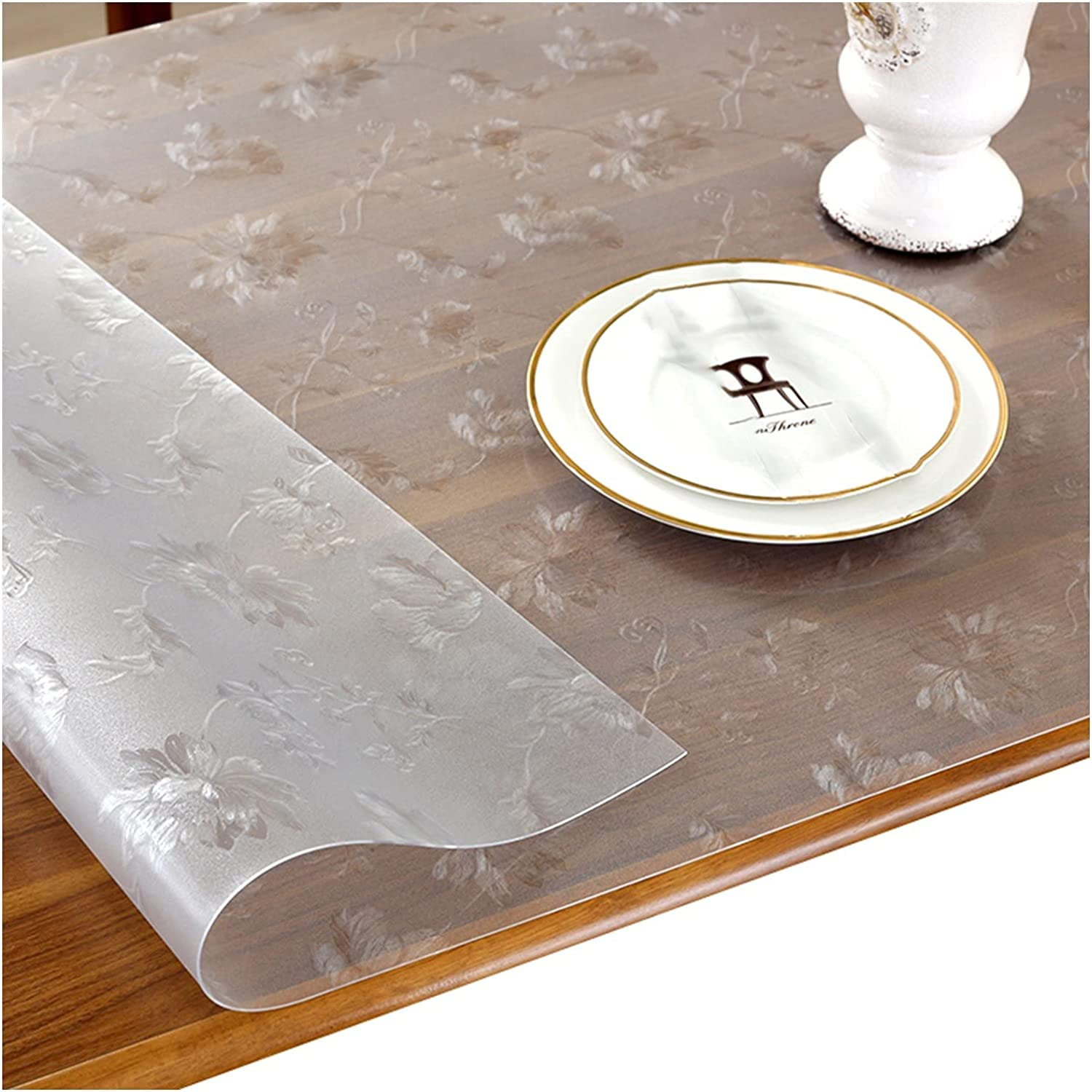 SEAL limited product ZXXL Vinyl Clear Tablecloth PVC 5 ☆ very popular Cover Desk Protecto Transparent