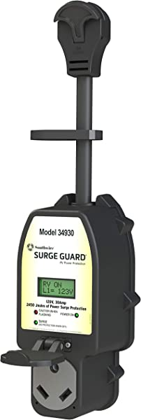 Southwire Black 34930 Surge Guard 30A Full Protection Portable With LCD Display