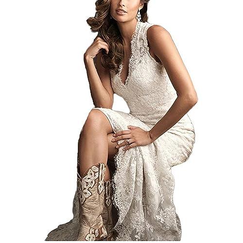 Ellenhouse Women s 2019 Lace Long Vintage Country Style Bridal Wedding Dress 4ae1157b54