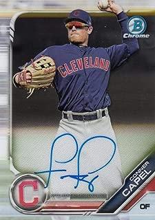 Baseball MLB 2019 Bowman Chrome Prospect Autographs #CPA-CC Conner Capel #CPA-CC NM Near Mint Auto Indians