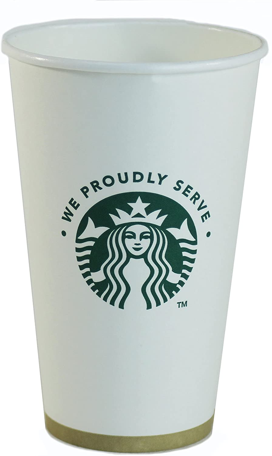 First Sip STARBUCKS disposable PAPER CUPS 1 SLEEVE OF 43 VENTI CUPS 20.5 oz