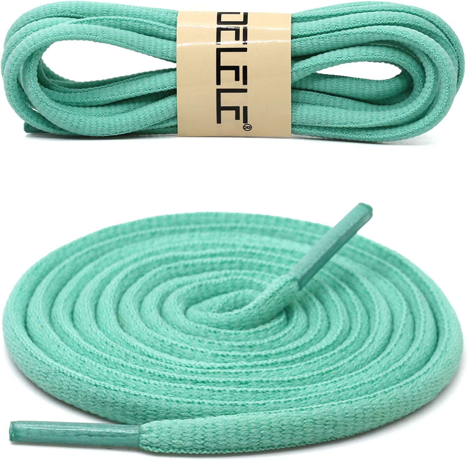 Oval Athletic Shoelaces Thick 4MM DELELE Half Round Shoe Laces Strings 2 Pair
