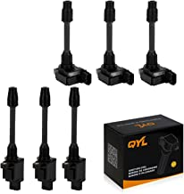 6Pcs Ignition Coil Pack Replacement for Nissan Maxima Infiniti Front and Rear 3.0L V6 UF348 UF363 C1266 C1267