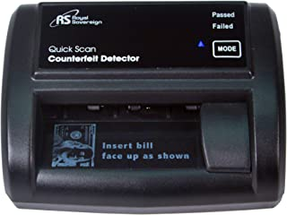Royal Sovereign Quick Scan Counterfeit Detector, Infrared, Magnetic, and Imaging Counterfeit Detection, Black (RCD-2120)