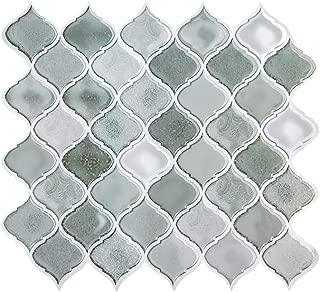 Peel and Stick Tile Backsplash for Kitchen, Stick on Tiles for Backsplash, Peel and Stick Backsplash Decorative Wall Tiles, Smart Tiles Grey 11