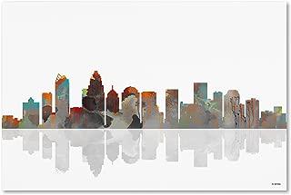 Charlotte NC Skyline Wall Decor by Marlene Watson, 30 by 47