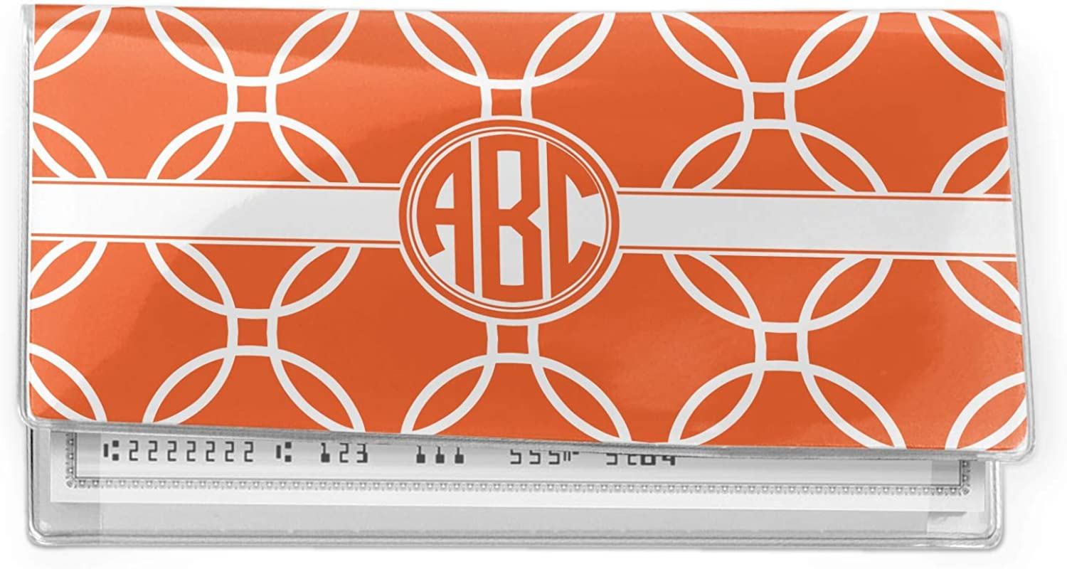 Linked Circles Vinyl Cover Our safety shop most popular Personalized Checkbook