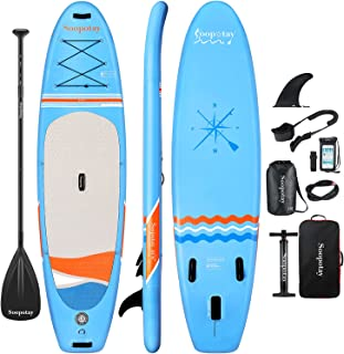 Inflatable SUP Stand Up Paddle Board, Inflatable SUP Board 10' 6'' x 32'' x 6'', iSUP Package with All Accessories