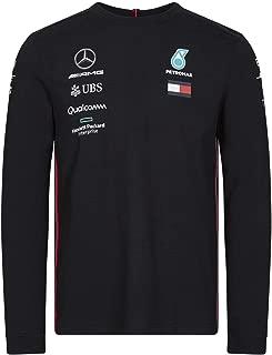Mercedes AMG Petronas Motorsport 2019 F1 Mens Long Sleeve Driver T-Shirt Black