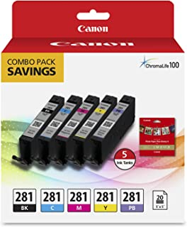 Canon CLI-281 BKCMYPB / 20 Sheets 5