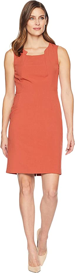 Sleeveless Modified Square Neck Dress