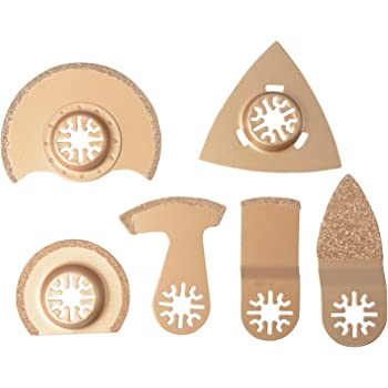 5pcs Diamant Lames de Scie Oscillantes Outils Oscillants Outil de Bois Multi-Usages pour Coupe en Plastique en Bois