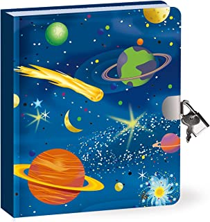 Peaceable Kingdom Lock & Key Diary - Deep Space