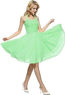 50s Vintage Detachable Halterneck Swing Rockabilly Ball Gown Dress