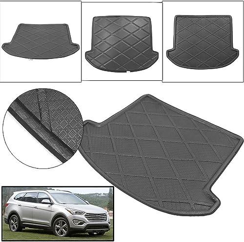 2021 Mallofusa Cargo Liner Rear Cargo Tray Trunk Floor Mat Compatible for Hyundai Santa Fe DM 7 Seats 2013 wholesale 2014 2015 discount 2016 2017 2018 Black outlet online sale