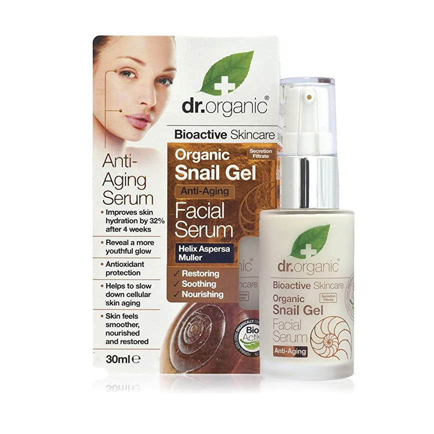 シェーバークラシカル配置Dr.organic Organic Snail Gel Facial Serum 30ml [並行輸入品]