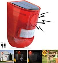 Sponsored Ad - Solar Sound & Light Alarm Motion Sensor 110 Decibels Siren Sound Alert & 6LEDs Flash Warning Strobe Securit...