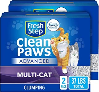 Fresh Step Clean Paws Unscented Low Tracking Clumping Cat Litter