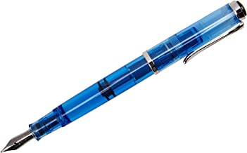 Pelikan 967489 Fountain Pen M205 Demonstrator transparant blue, fine nib F, Special Edition