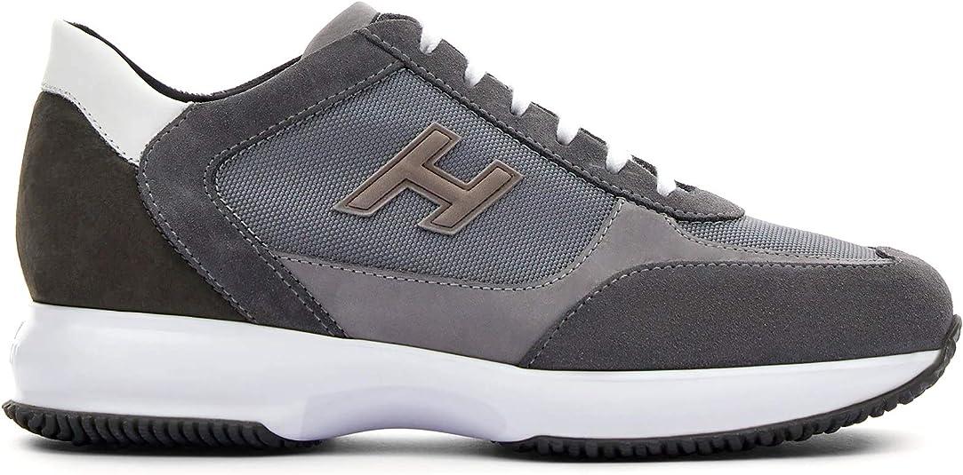 Hogan Sneaker da Uomo Interactive Grigia in Suede e Tessuto ...