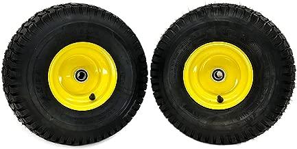 MowerPartsGroup (2) John Deere Front Wheel Assemblies 15x6.00-6 Fits John Deere L100 L100A