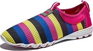 KENSBUY Women's Breathable Mesh Shoes, Slip On Canvas Casual Shoes