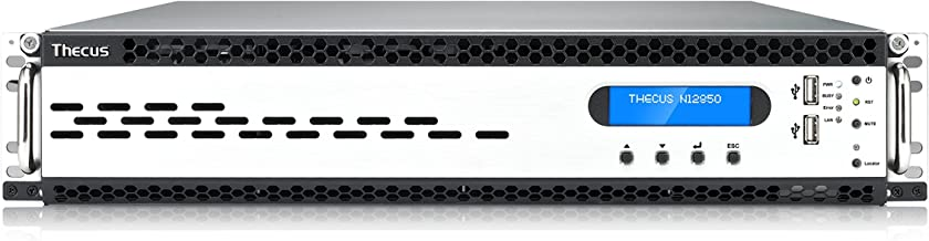 Thecus N12850 12-Bay NAS with Intel Xeon E3-1231v3 3.4 GHz, Intel C224 Chipset, 16GB RAM, 10 GbE Ready, 2X USB 3.0 - Metallic/Grey