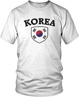 Amdesco Men's Korean Flag Shield, Flag of South Korea T-Shirt