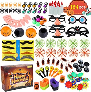 Acekid 124pcs Halloween Party Toys, Assortment Novelty Toys for Halloween Trick or Treat, School Classroom Rewards,Hallowe...