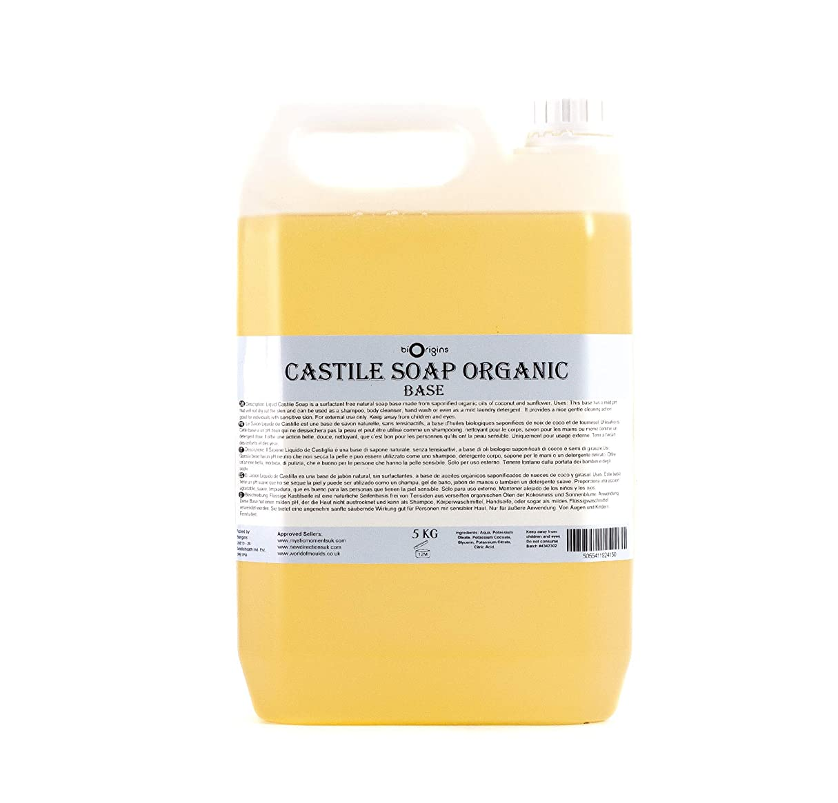 組立に話す教育するPure Liquid Castile Soap Organic 10Kg