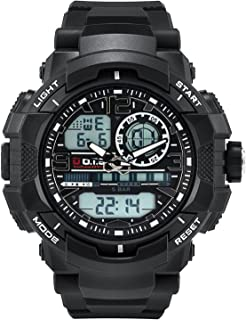 Men's Sports Watch, PALADA T8073 Dual-Display Waterproof Outdoors Military Digital Watch with Big Dial and Chronograph