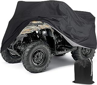 Capa à prova d'água para chuva ATC Quad Bike ATV Preta 190T XGG tamanho 221 x 100 x 108 cm