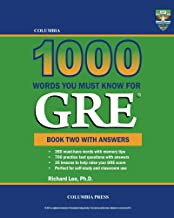 Columbia 1000 Words You Must Know for GRE: Book Two with Answers