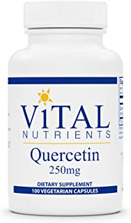 Vital Nutrients - Quercetin - Respiratory and Sinus Support - 100 Vegetarian Capsules per Bottle - 250 mg