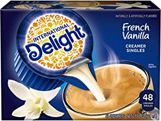 International Delight Coffee Creamer Singles, French Vanilla, 48 Count (Pack of 4)